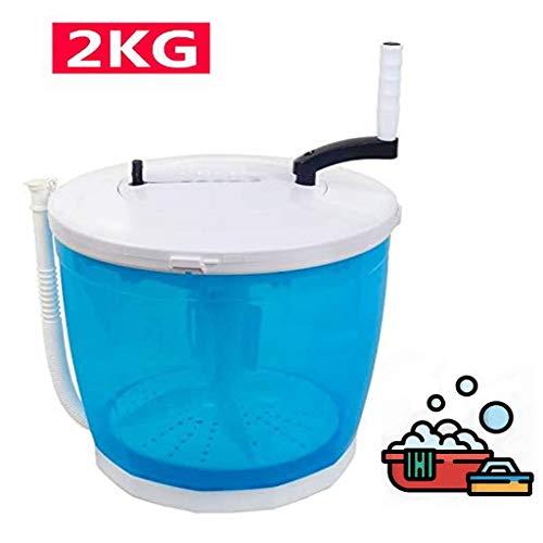 Shanxi 2-in-1 mini-wasmachine en droger, draagbare oplader, reiswasstraat met droger, camping apartments onder slaapzalen 2 kg/(35 cm * 34 cm)