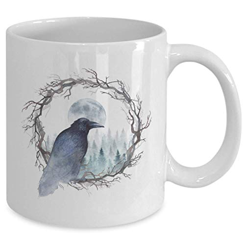 Gothic Raven Mug - Coffee Cup Gift for Lovers of Goth Decor, Ravens and Crows