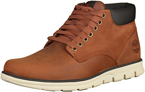Timberland Bradstreet Leather Sensorflex, Botas Chukka para Hombre, Marrón MD Brown Full Grain, 41 EU