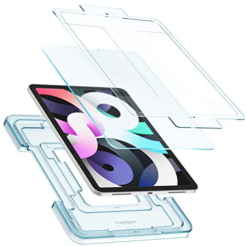Spigen EZ Fit Anti-Glare Blurred Tempered Glass Screen Protector for iPad Air 4 2020 and iPad Pro 11 Inch - 1 Pack