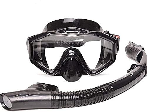 MZHEHAOAN GJNWRWQCY - Gafas de buceo de alta resolución, impermeables, juego completo de esnórquel seco, adecuadas para una respiración agradable, adecuadas para adultos