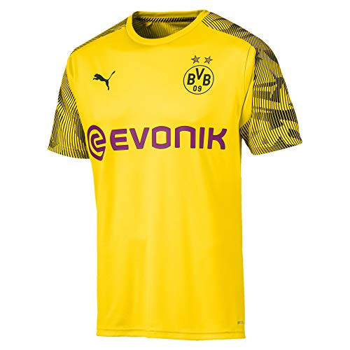 PUMA BVB Training Jersey with Evonik Logo Maillot, Hombre, Cyber Yellow Black, XL