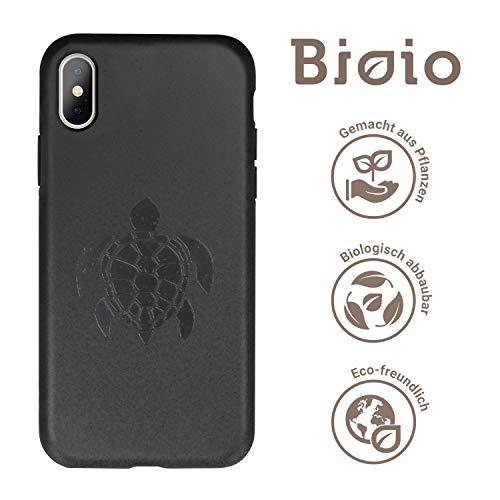 FOREVER Hülle Kompatibel mit iPhone X/XS, Schutzhülle aus Biologisch Abbaubar Materialien, Bio Case Anti-Kratz, Stoßfestes Bumper, Umweltfreundliche Handyhülle, Rückseite Cover (Schildkröte)