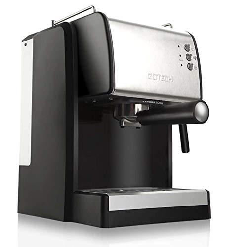 RUIXFCA Machine à Café pour Expresso et Cappuccino de 15 Bars avec Buse Vapeur Orientable. 900W. 1,5L,Chauffe-Tasses, INOX, Argent, B