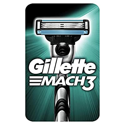 Gillette Mach3 Men's Razor - 1 Blade, Engineered with Precision Cut Steel for Up to 15 Shaves Per Blade