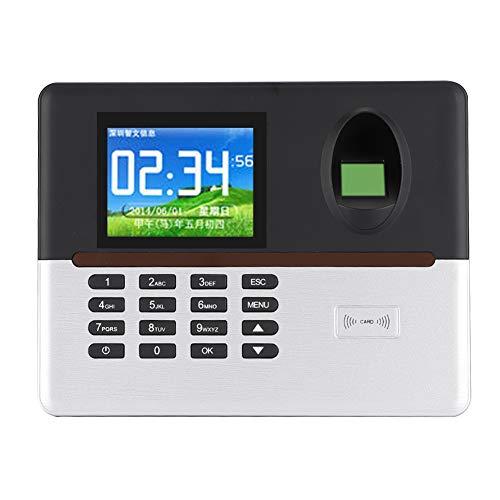 Tiempo Asistencia, 100-240V Inteligente Biométrico Huella Dactilar 0℃-45℃ Abdominales El plastico