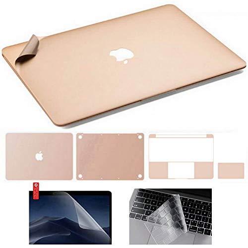Calcomanía adhesiva de vinilo de película de cuerpo completo de 3M + cubierta de teclado + protector de pantalla, 6 en 1 para MacBook Pro 16 A2141