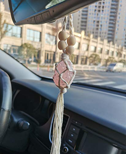 Handmade Car Rear View Mirror Charms Hanging Accessories Decor Crystal Rearview Mirror Car Charm Ornament Pendant Decorations