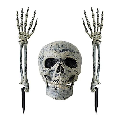 XIANGE100-SHOP Halloween Prop Skull Skeleton Horror Tombstone Skull Garza Decorazione Halloween Home Garden Decor