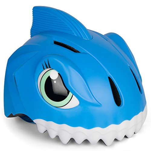 Casco de bicicleta infantil 3D Shark Animal para niños, niños y niñas,...