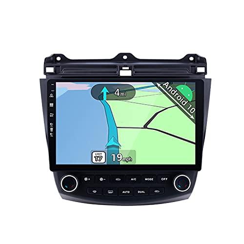YUNTX Android 10 Autoradio adatto per Honda Accord (2003-2007)- GPS 2 Din - 2G+32G - 10.1 pollice TouchScreen- Supporta DAB / Controllo del Volante / BT 5.0 / WiFi / 4G / CarPlay / USB / Mirrorlink