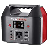 FIVKLEMNZ 200W Portable Power Station, 180WH Solar Generator, Backup Battery Power Supply 110V Pure...
