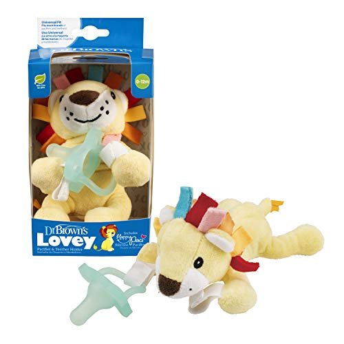 Dr. Brown's Lonny The Lion Lovey W/Aqua Onepiece Pacificer