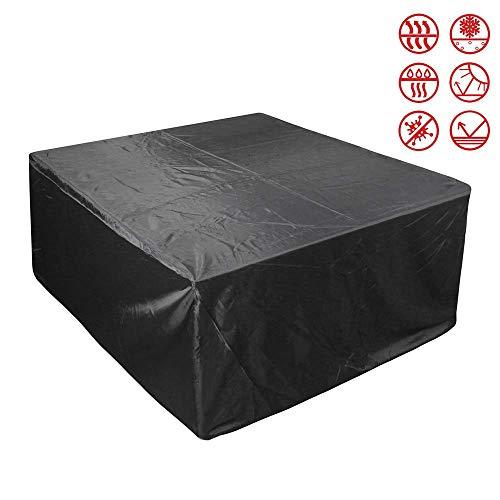 Hualiyuyuan - Fundas para muebles de patio, cubiertas de muebles de exterior hechas de tela Oxford 210D, resistente al viento, impermeable, lluvia, nieve, polvo y viento, anti-UV, 242x162x100cm