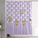 liangchunmei Lustiger Stoff Duschvorhang Snoopy wasserdicht Badezimmer Dekor mit Haken 60 x 72 Zoll