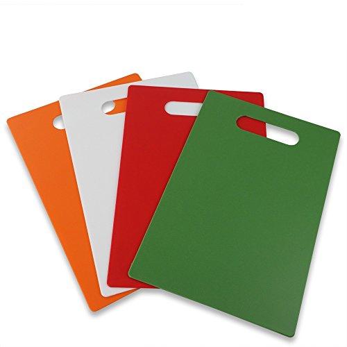Nicesh Plastic Cutting Board Set - Thin, 11.8' x 7.8', Set of 4