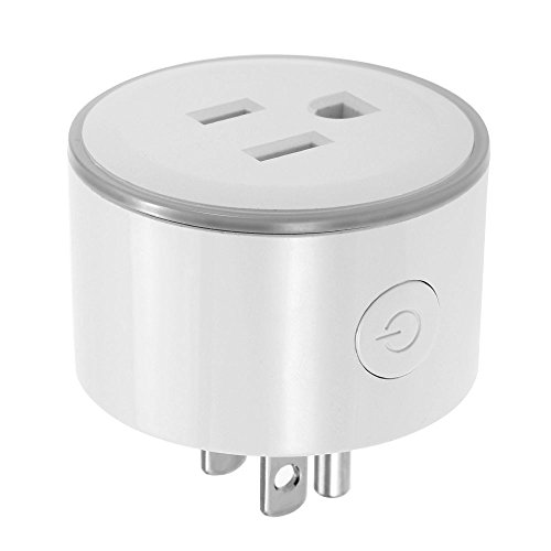 Control de voz del indicador LED del enchufe elegante de WiFi para el Amazonas Alexa y para el hogar IFTTT de Google