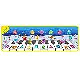 AnXiongStore 110 * 36 CM Alfombrillas de Juego para niños Alfombrillas de música de Piano para niños Alfombrillas de música para Piano Alfombrillas de Juego Suaves para niños