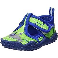 Playshoes Zapatillas de Playa con protección UV Foca, Zapatos de Agua Unisex Niños, Azul (Blau/Gruen 791), 24/25 EU
