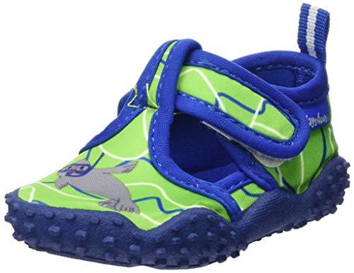 Playshoes Unisex-Kinder Aqua-Schuhe Robbe, Grün (Blau/Grün 791), 22/23 EU