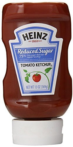 Heinz Reduced Sugar Ketchup Pack of by 2021 autumn and winter new Squeeze Ranking TOP1 Bottles 3 oz 13
