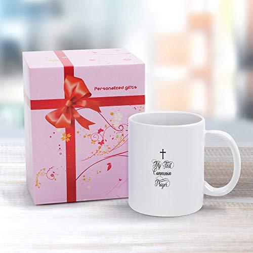 Taza de café de cerámica 325 ml, idea de regalo para cumpleaños, boda, aniversario y otros momentos especiales Mi primera comunión-01