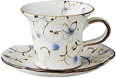 エールネット(Ale-net) 粉引ブルー花唐草 コーヒーカップ