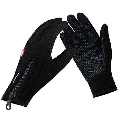 Bequemer Laden Fahrradhandschuhe Männer Winter Warme Touchscreen Handschuhe Wasserdichte Outdoor Winddichte Trainingshandschuhe Vollfinger mit zip Cycling Sporthandschuhe Für Unisex