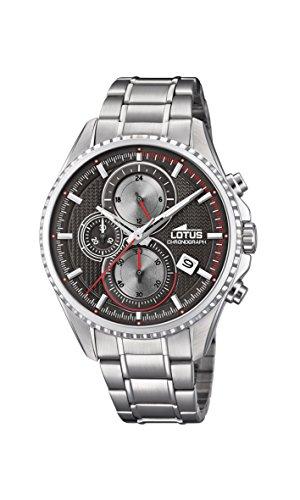 Lotus Watches Reloj Cronógrafo para Hombre de Cuarzo con Correa en Acero Inoxidable 18526/4