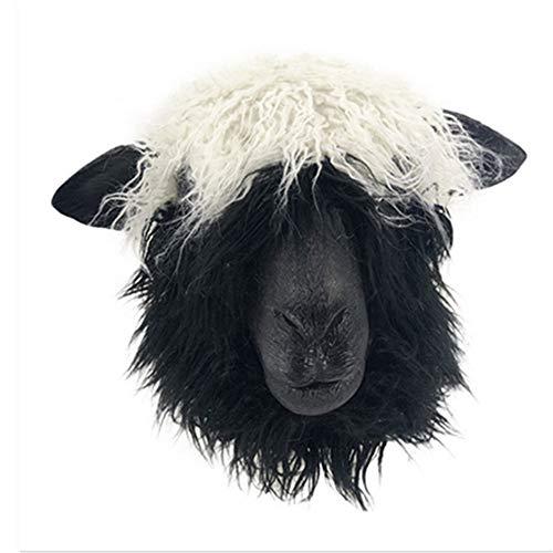 XYDBB masker kostuum diermasker volwassenen maat schapenmasker met latex kop