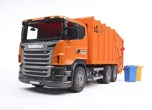 bruder Scania R-Serie Müll - LKW orange / 03560