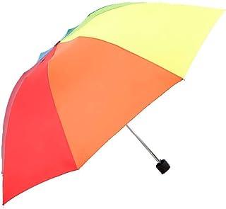 JOYS CLOTHING 折りたたみレインボー傘新しいクリエイティブ日焼け止め三つ折りレインボー傘
