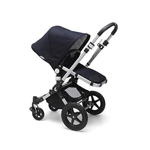 Bugaboo Cameleon3 Plus Complete Stroller, Alu/Dark Navy - Versatile, Foldable Mid-Size Stroller with Adjustable Handlebar, Reversible Seat and Car Seat Compatibility
