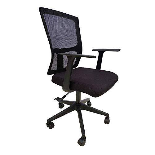 Busirsiz Silla de tareas giratoria Silla de oficina giratoria media de la espalda de malla con los brazos computadora de oficina silla de la computadora Silla de oficina (Color: Negro, tamaño: 100 * 5