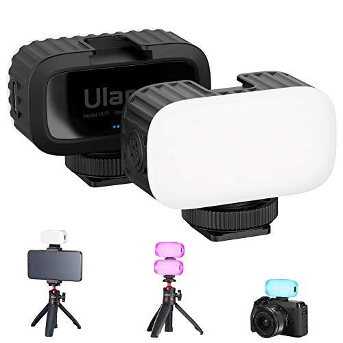 VL15 Luce LED RGB sulla Fotocamera Mini luce LED per Go pro Hero 5 6 7 8 9 Illuminazione più Morbida con Scarpa Fredda 8 Colori può Luminosità Regolabile