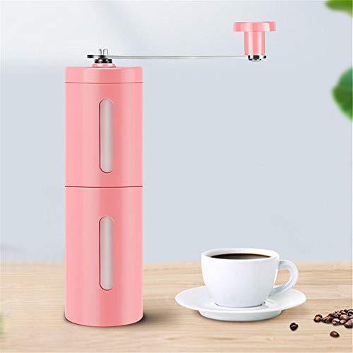 lizubing Kaffeemühle, handbetriebene Kaffeemaschine, Kaffeemühle, Mühle@Pink