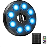 AMIR Upgraded Solar Patio Umbrella Lights, Rechargeable/4AA Battery Operated 13 Color Changing 15 Brightness Remote Control Umbrella Pole Light for Patio Umbrellas,Camping Tents or Outdoor Use