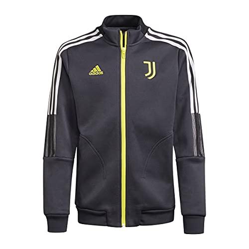 adidas JUVE Anthem JKT Jacket, Carbon, 3XL Mens