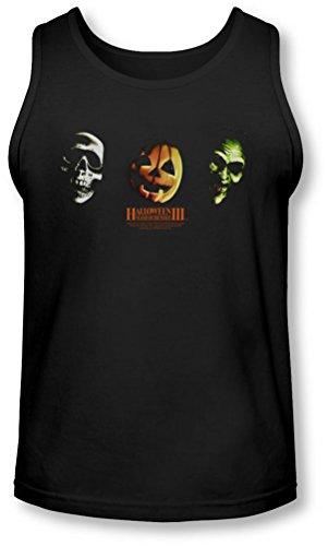 Halloween III - Halloween III - Männer Drei Masken Tank-Top, X-Large, Black