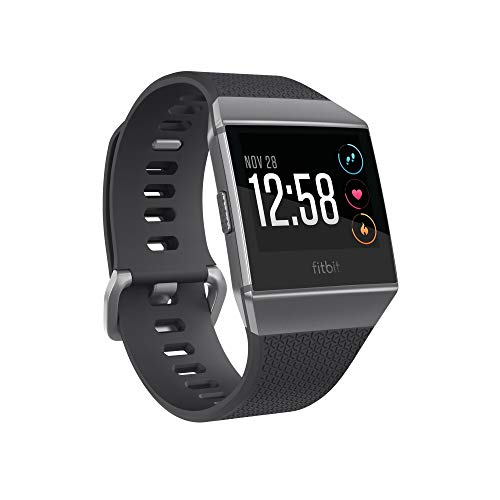 Fitbit Ionic GPS Smart Watch, Charcoal/Smoke Gray, One Size...