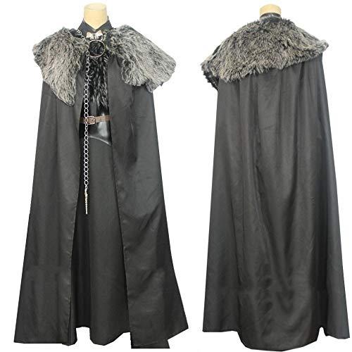 WSJDE Juego de Tronos Temporada 8 Disfraz Sansa Stark Cosplay Lady of Winterfell Adulto Personalizado Halloween Navidad Carnaval Fiesta Capa L