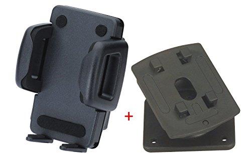 Herbert Richter Handyhalter für Geräte mit einer Breite von 37 mm bis 82 mm, passend für viele SmartPhones und alle Fahrzeuge (Mit Kugelgelenk-Sockel)