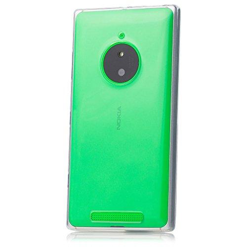 iCues Schutzhülle für Nokia Lumia 830 | Transparent TPU Case Klar | [Bildschirm Schutzfolie Inklusive] Transparent Klarsichthülle Durchsichtig Klare Klarsicht Silikon Gel Hülle Cover Schutz