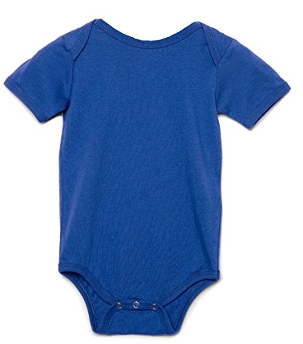 Bella - Body de manga corta unisex para bebé Azul Real Real 3 a 6 Meses