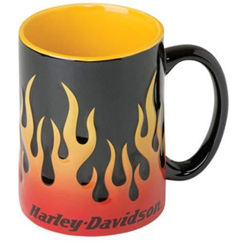 HARLEY-DAVIDSON Flammen Kaffeebecher Dreifarbig 3D Flammengrafik Keramik 450 ml