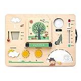 Tender Leaf Toys Reloj de juguete educativo con accesorios magnéticos y actividades – Enseñar temporadas, temperatura y nuevas habilidades de idioma para niños 3+
