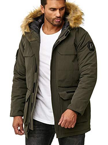 Redbridge Abrigo Invernal para Hombre Capote Chaqueta con Capucha Verde XL