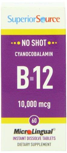 MicroLingual No Shot Cyanocobalamin B-12 (10,000mcg) 60 tabs