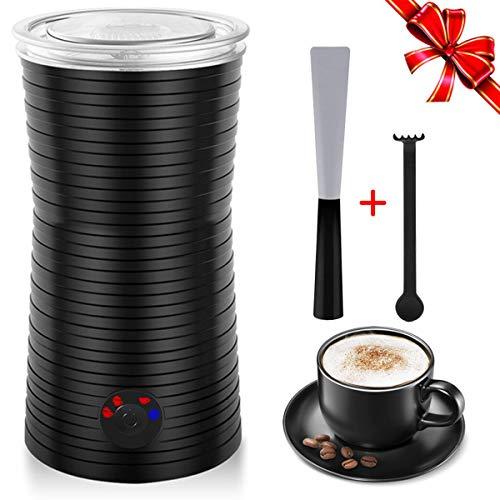 Montalatte Elettrico Automatico Professionale, Schiumalatte con 4 Modalità per Latte, Scaldalatte Controllo della Temperatura, per Caffè, Cappucino, M