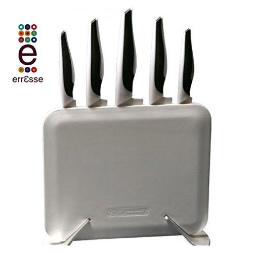 Nucci - ClassE - Ceppo plasma 13' completo 5 coltelli ceramica - bianco